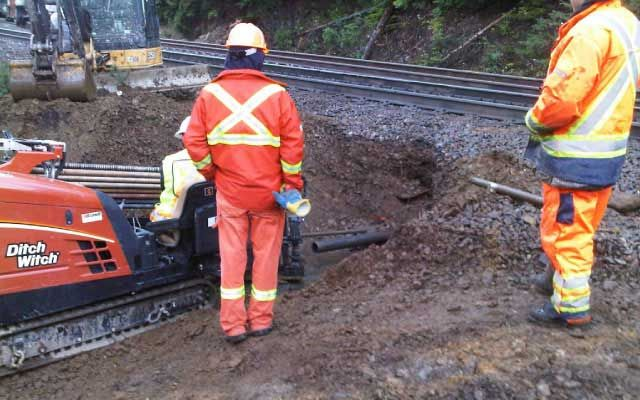 directional drilling for railway site