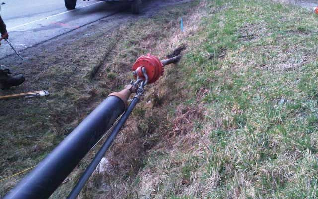 horizontal drilling for water and sewer line